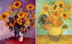 Подсолнухи Клод Моне и Ван Гог
